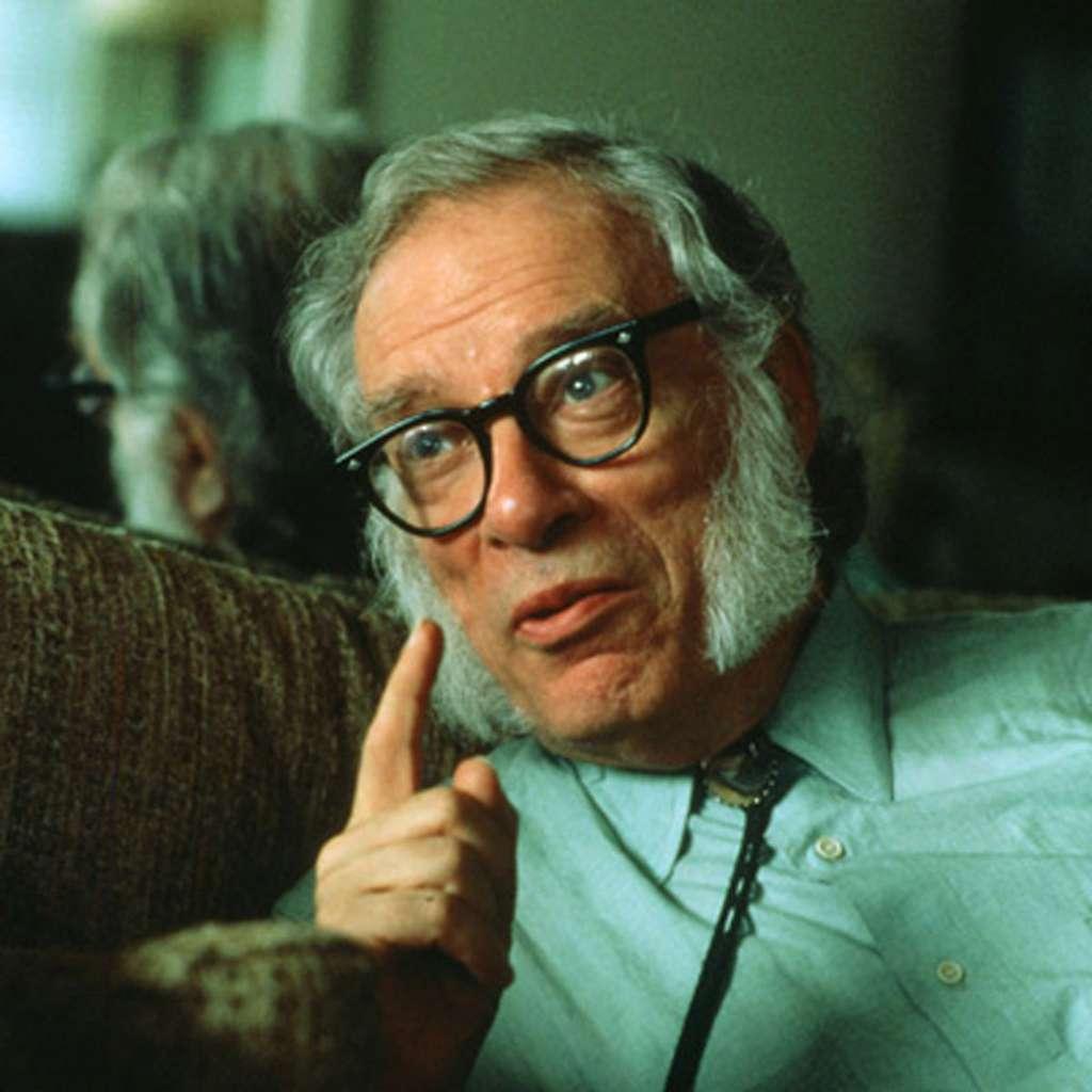 Isaac Asimov à la fin des années 1970 au cours d'une interview consacrée aux lois de la robotique. © biography.com