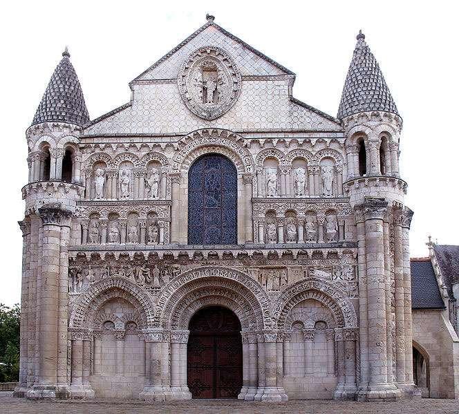 Façade ouest de l'église Notre-Dame-la-Grande à Poitiers. © Codex, Wikipédia