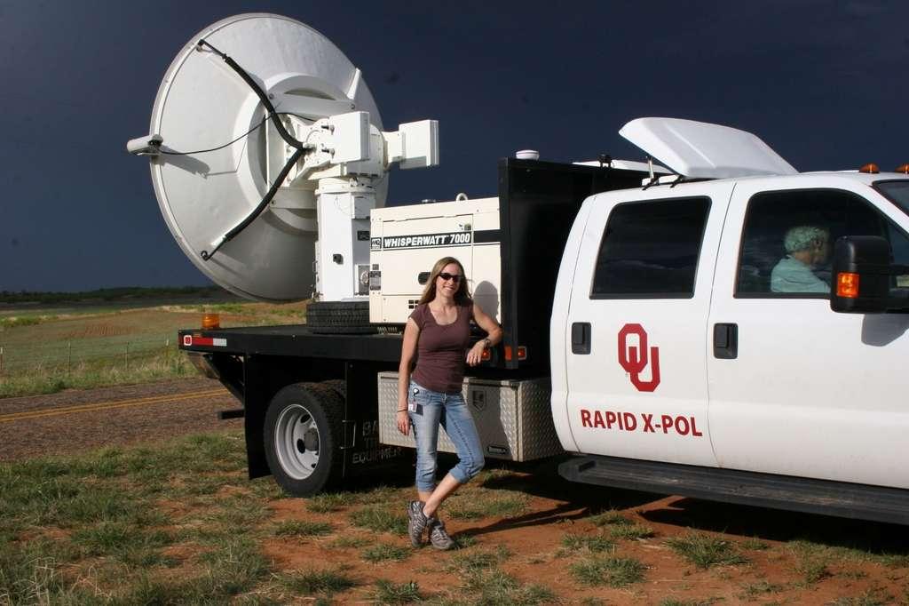 Ici, un système radar mobile à balayage rapide tel que celui qui a fourni les données utiles aux chercheurs pour arriver à leurs conclusions. © Jana Houser, Université de l'Ohio