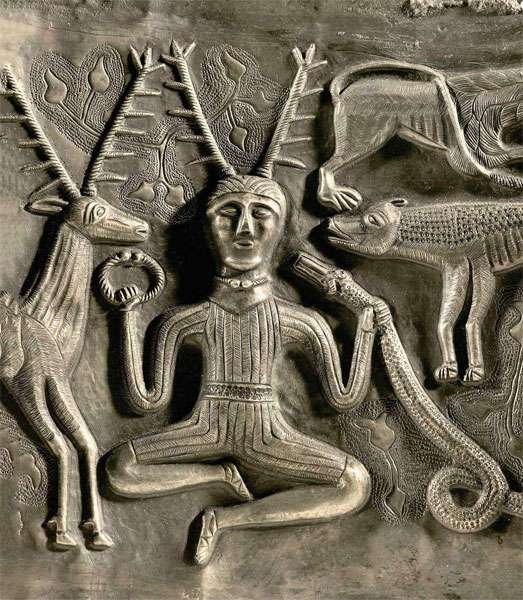 Le sublime bestiaire de Gundestrup. © Copenhague, Musée national, Dunod