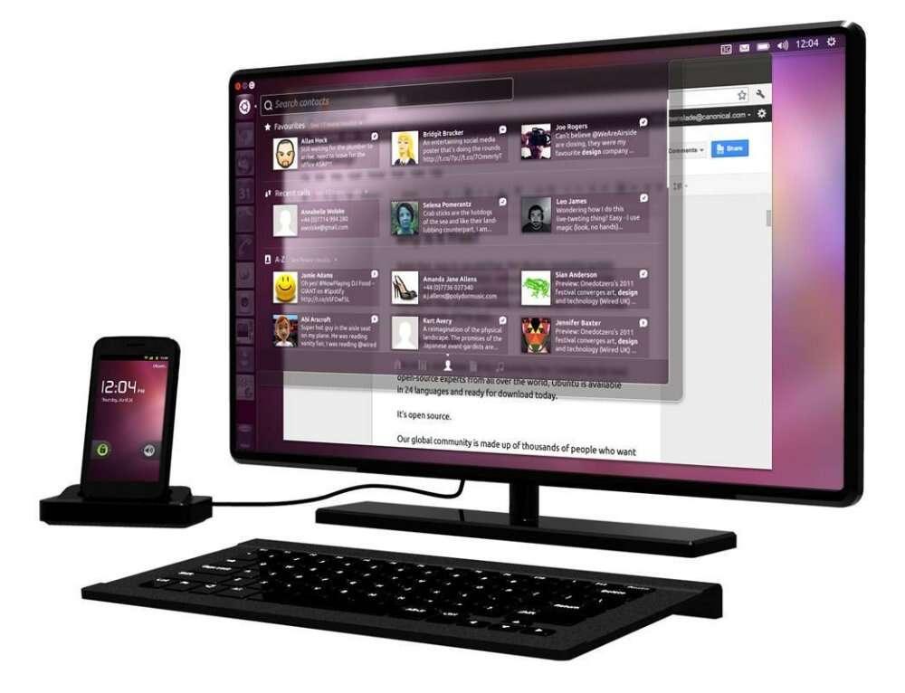Ubuntu pour Android utilise une petite station d'accueil qui transforme n'importe quel smartphone en ordinateur sous Linux. © Canonical