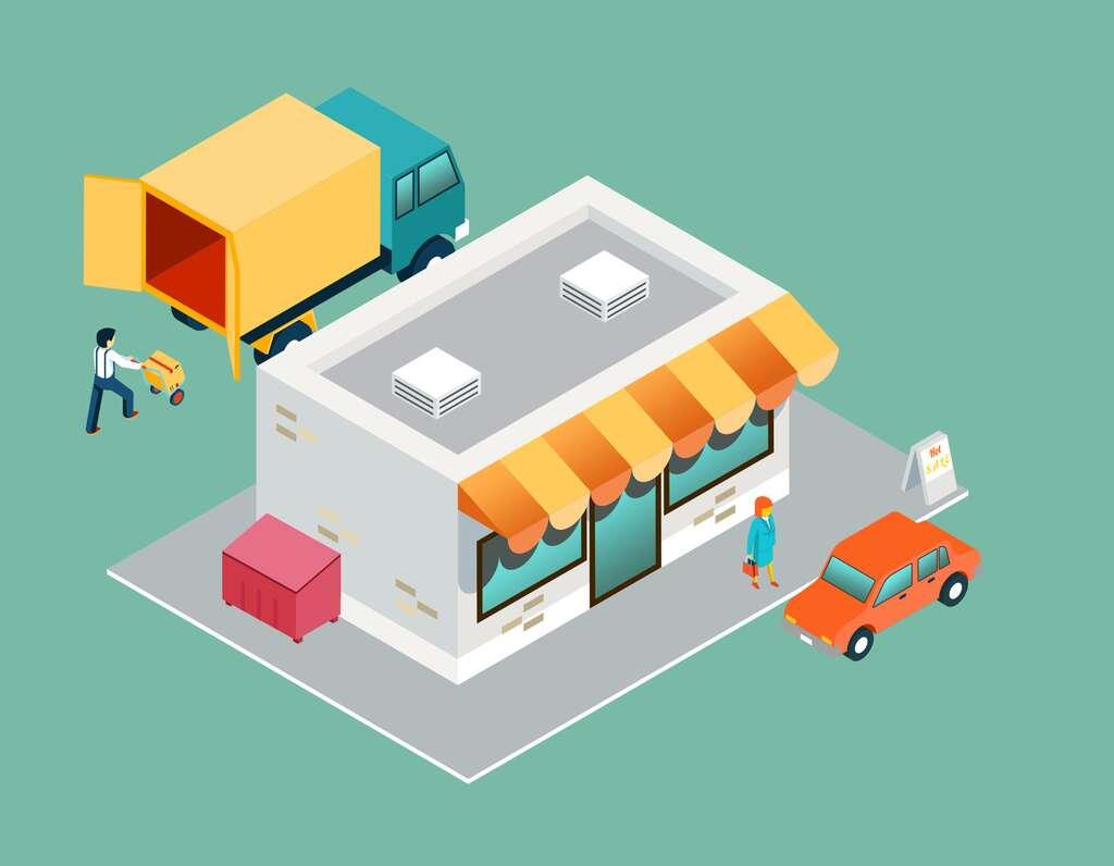 Le trajet du client jusqu'au point de vente représente 11 % des émissions de gaz à effet de serre de la chaîne alimentaire, contre 6 % seulement pour le transport depuis le lieu de production jusqu'au magasin. © Neyro, Adobe Stock