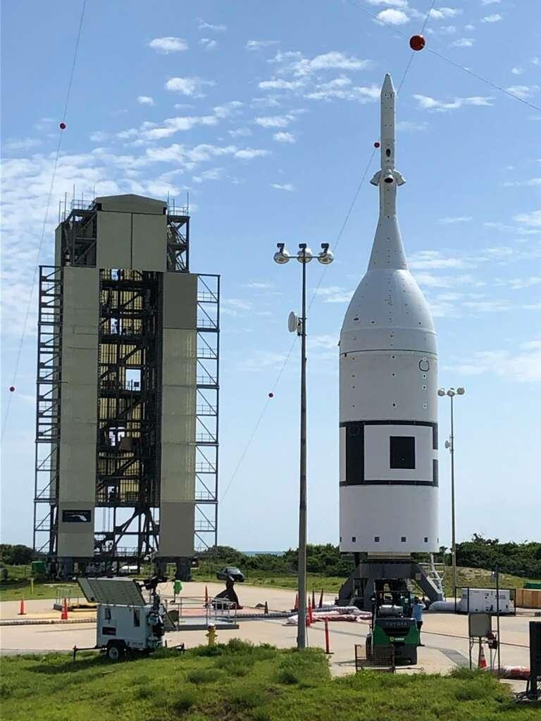 La véhicule Orion prêt pour son test d'abandon de lancement (Ascent Abort Test 2). © Nasa