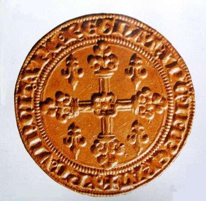 Écu d'or de Saint Louis qui deviendra, plus tard, le louis d'or.