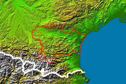 Relief de l'Aude