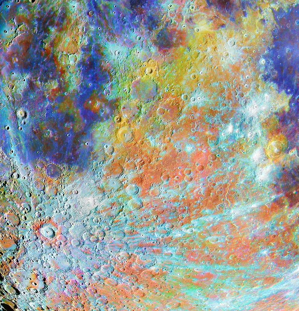 Tycho Crater Region with Colours. Premier prix de la catégorie Lune. © Alain Paillou, Insight Investment Astronomy Photographer of the Year