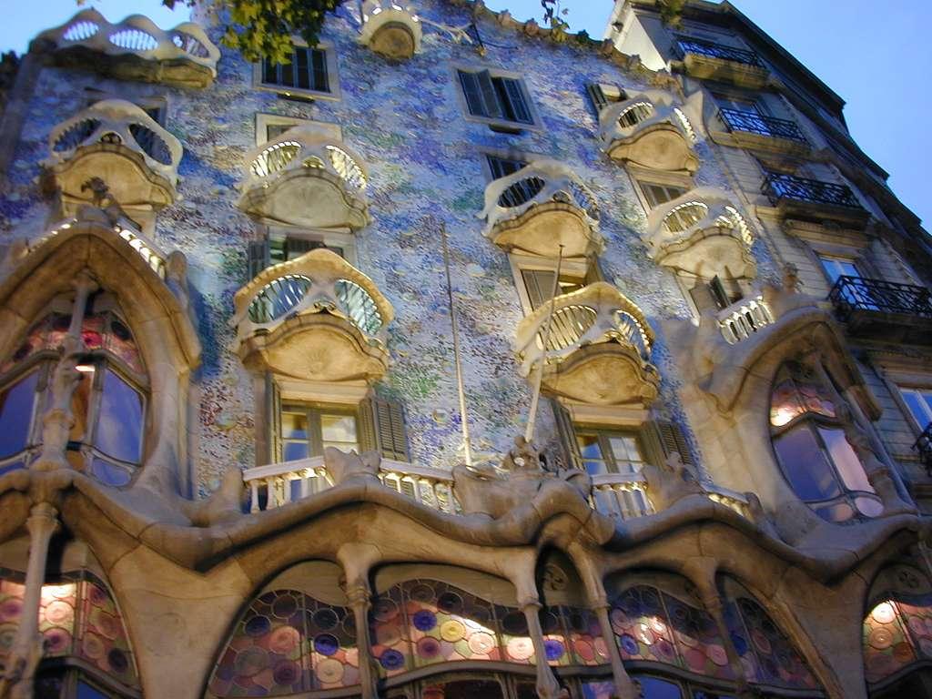 La Casa Batlló de Gaudí, à Barcelone (Espagne)