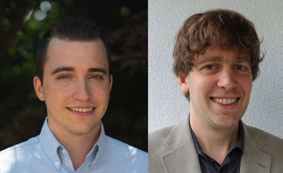 Tobias G. Meier et Dan J. Bower. © Université de Berne