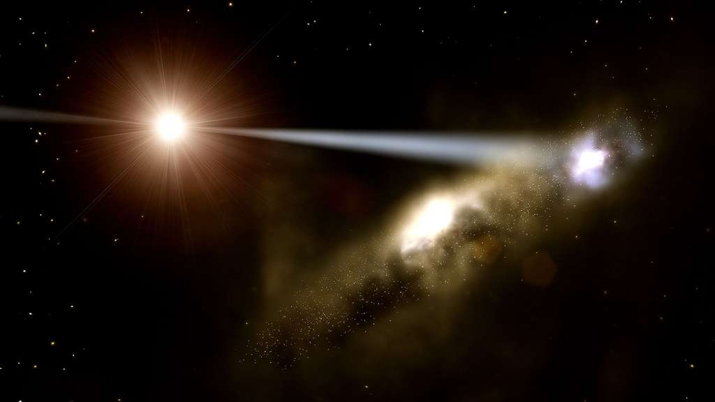 Un quasar inhabituel