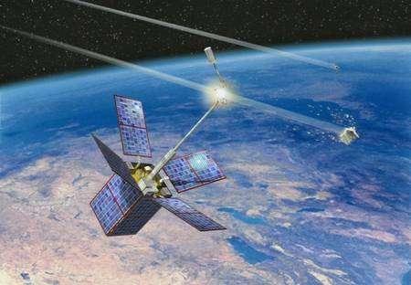 Collision entre le satellite français Cerise et un débris spatial en 1992. Crédit CNRS
