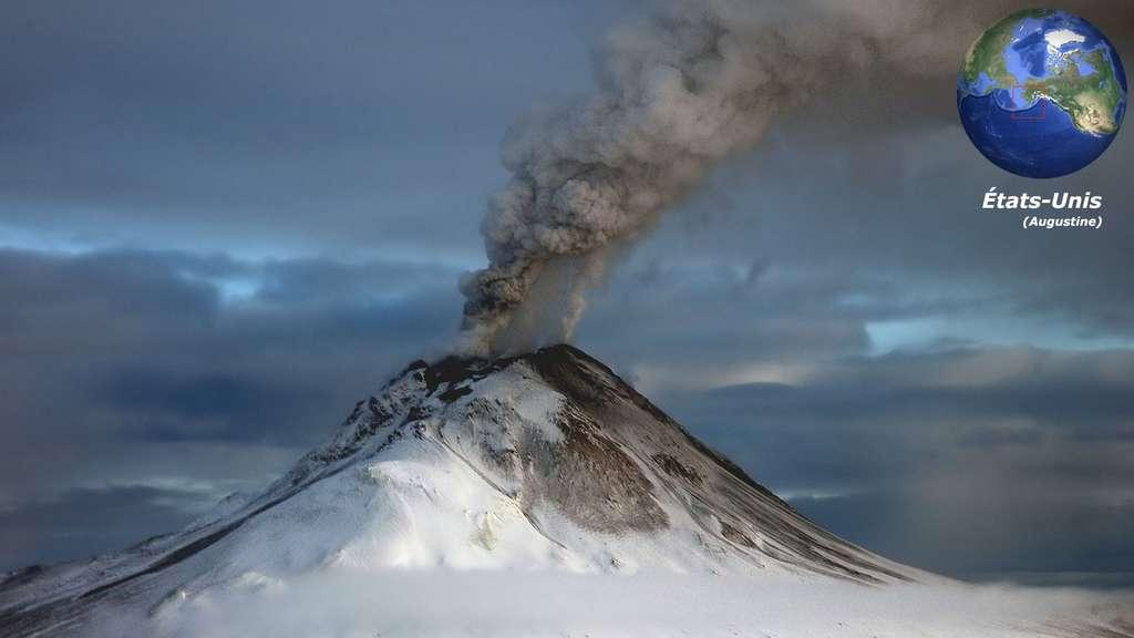 L'Augustine, sur une île d'Alaska, un volcan de la ceinture de feu du Pacifique