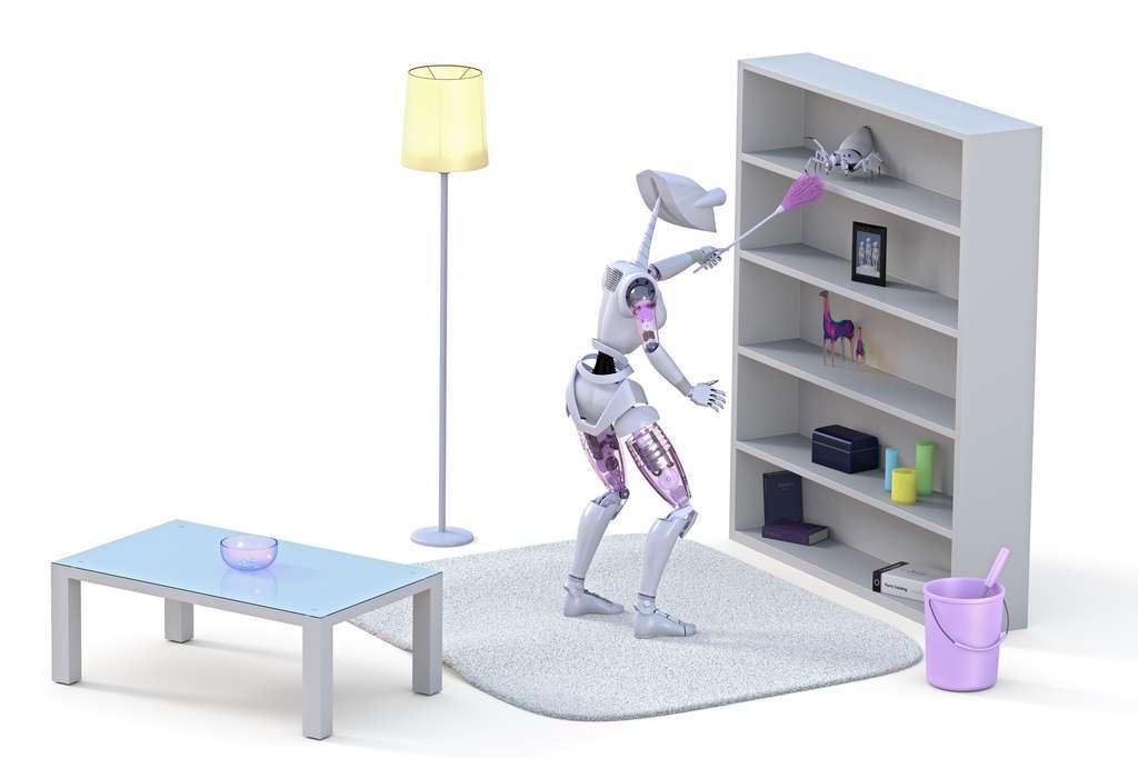 Pour illustrer son propos sans susciter trop d'inquiétude, Google a choisi de prendre le cas d'un robot nettoyeur chargé de l'entretien de la maison. © Glenn Price, Shutterstock