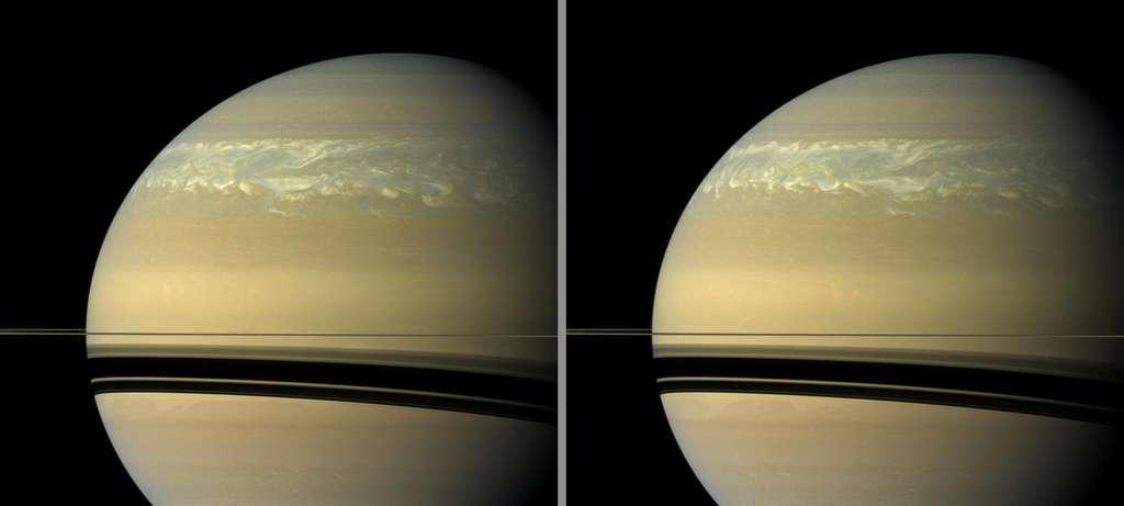 Tempête sur l'hémisphère nord de Saturne
