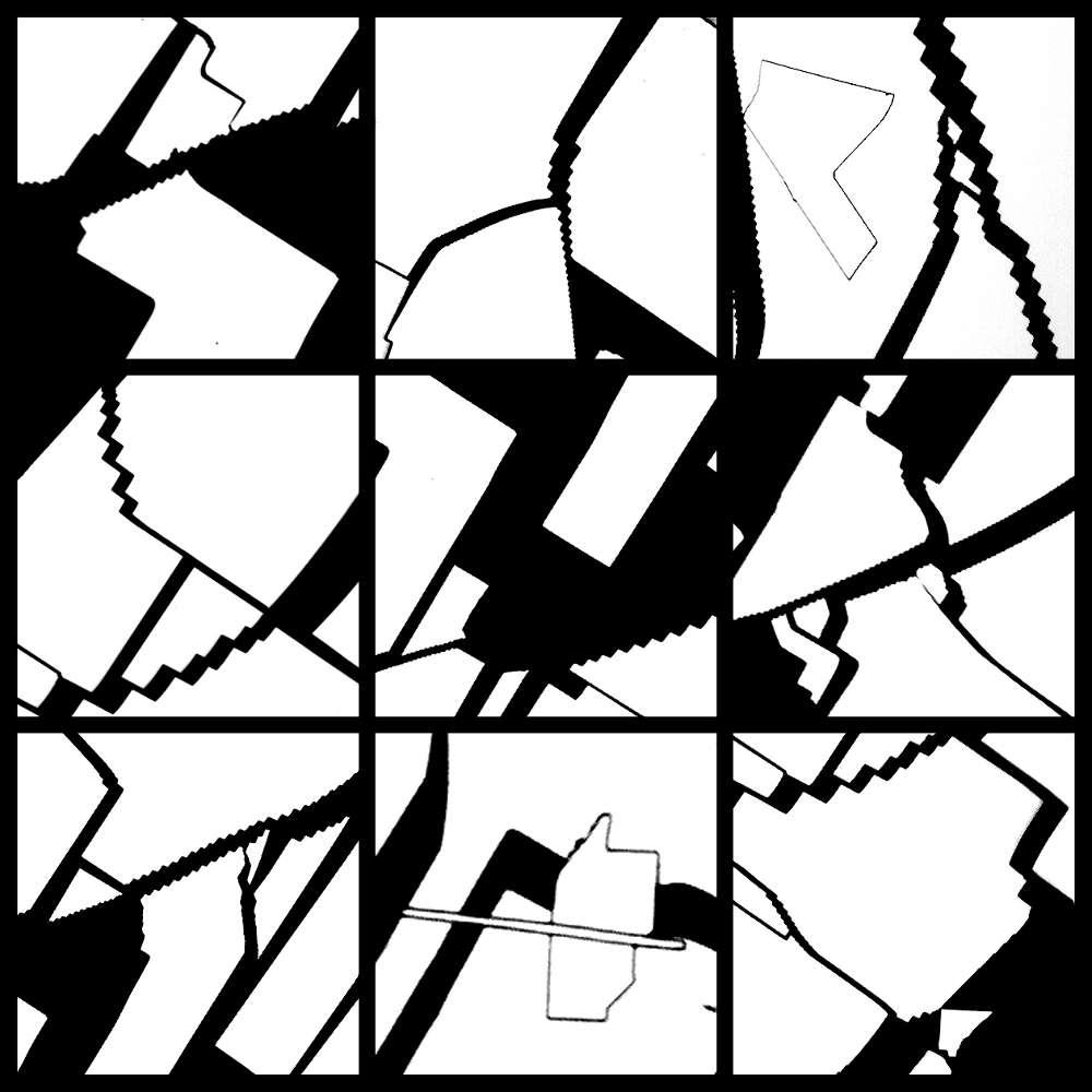 Cellules photovoltaïques en noir et blanc