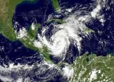L'ouragan Wilma progressant dans le golfe du Mexique