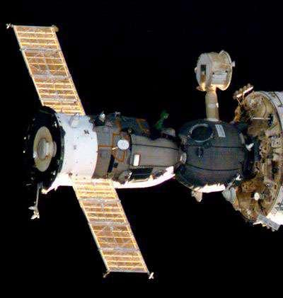 C'est à bord d'un vaisseau russe Soyouz, tel que celui-ci, que s'envolera le prochain candidat à un séjour touristique dans la Station Spatiale Internationale. © NASA