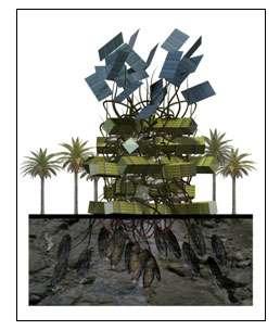 Une habitation bio-inspirée. © Dennis Dollens, Universitat Internacional de Catalunya, Barcelona