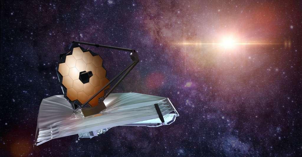 Des années que les astronomes attendent le lancement du télescope spatial James Webb. Il pourrait bien enfin avoir lieu en 2021. © dottedyeti, Adobe Stock