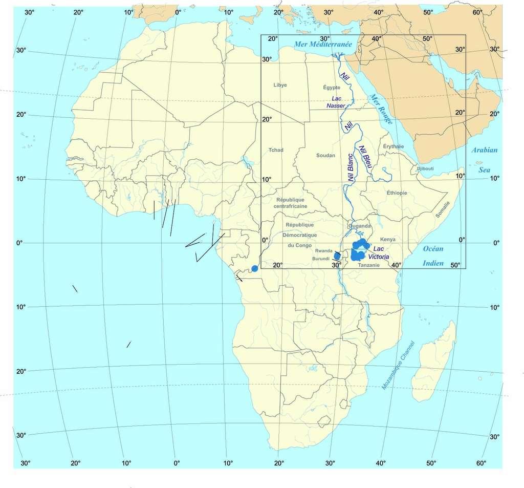 Les fleuves Nil blanc et Nil bleu rejoignent et composent le Nil. © TAKASUGI Shinji, Wikimedia Commons, CC by-sa 3.0