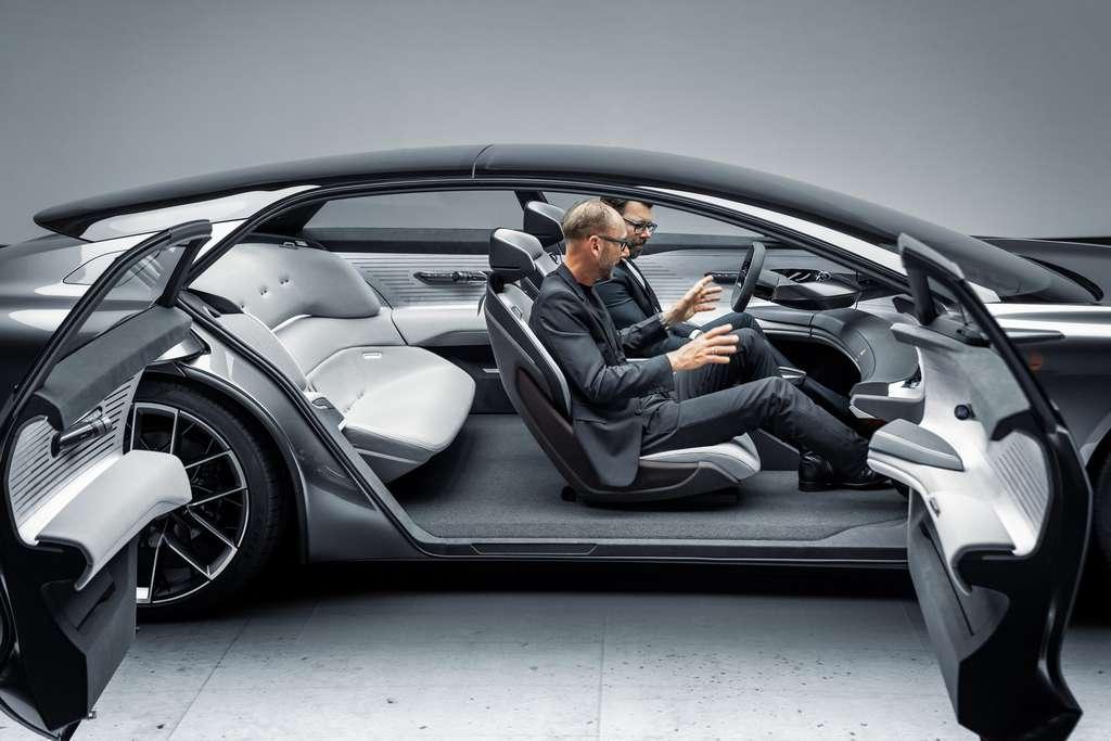 L'Audi granshpere et ses immenses portières antagonistes. © Audi