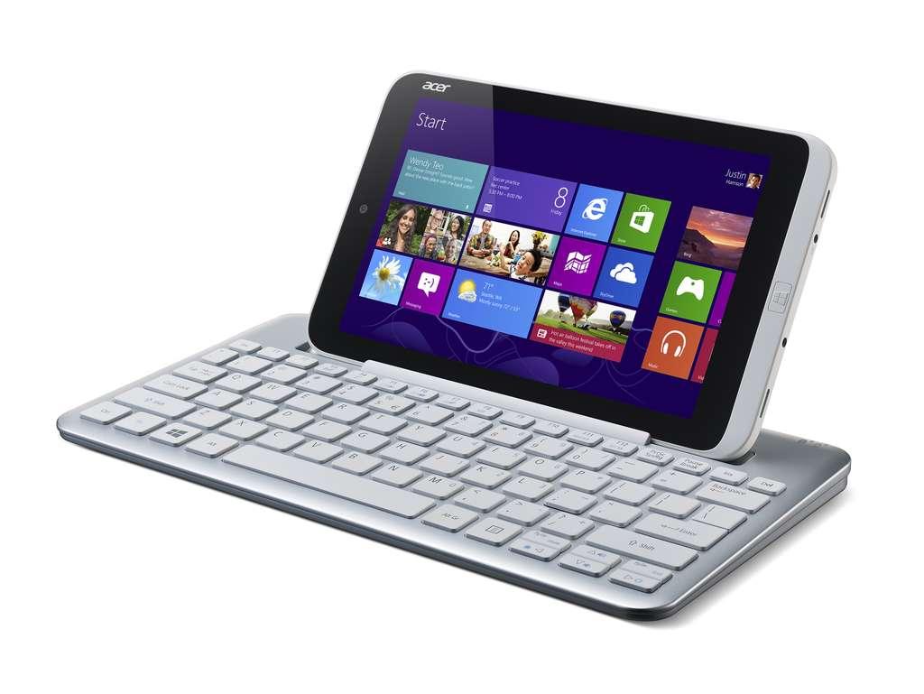 L'Acer Iconia W3 est la première tablette 8 pouces sous Windows 8. Elle peut s'utiliser avec un clavier Bluetooth, vendu en option à 69 euros. © Acer