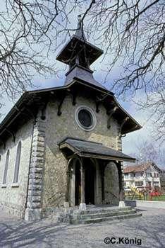 L'église d'Eysins en Suisse, un gîte pour les chauves-souris. © C. König, tous droits réservés