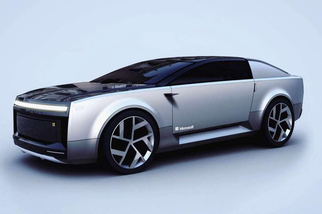 La Microsoft Surface Car est inspirée des tablettes hybrides Microsoft Surface. © Yang Gu-Rum