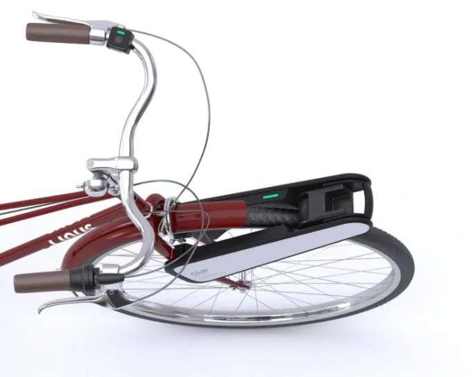 Le kit VAE Clip utilise une télécommande Bluetooth située sur le guidon. © Clip.Bike