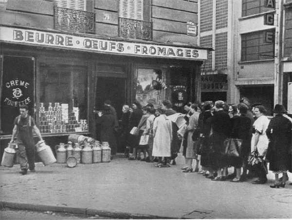 Les Français à l'heure du rationnement. © Eklablog, Google Images
