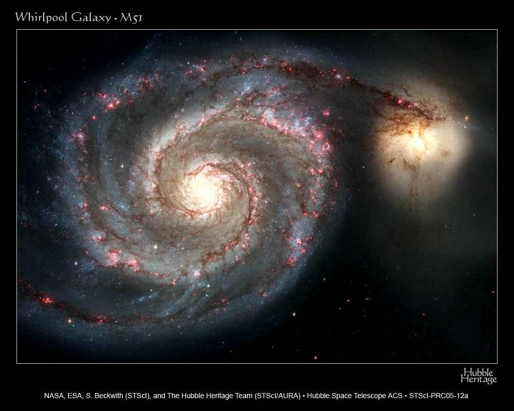 Hubble : Galaxie des Chiens de Chasse, M-51, Whirlpool