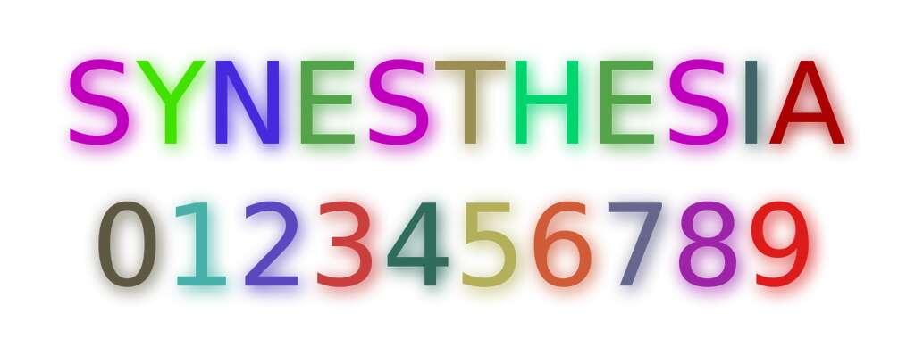 La synesthésie peut se manifester comme l'association de couleurs à des lettres. Cette pathologie pourrait favoriser la créativité puisque de nombreux artistes, tels le peintre Vassily Kandinsky, le pianiste Michel Petrucciani ou l'écrivain Vladimir Nabokov en « souffraient ». © Mysid, Wikipédia, DP