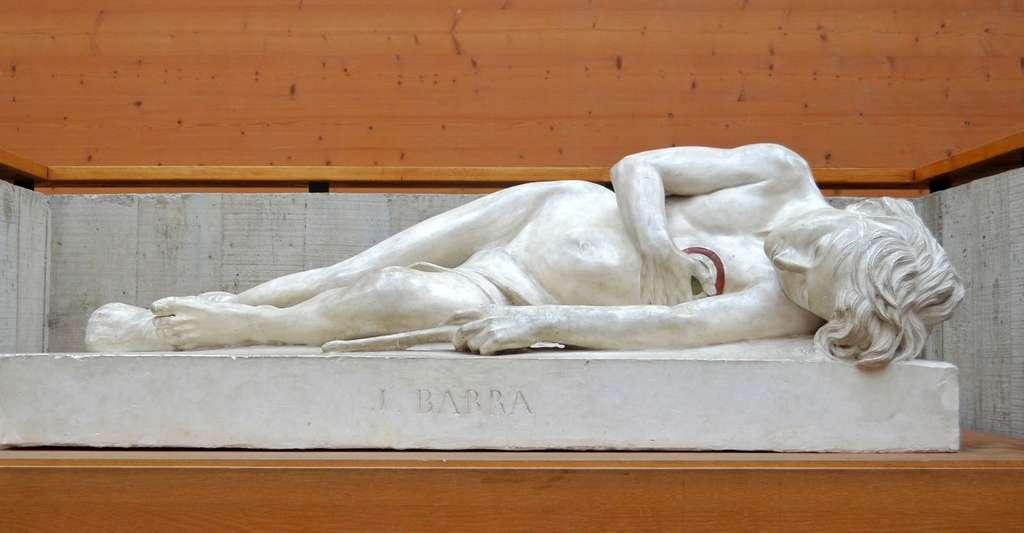 Modèle du marbre représentant Joseph Bara par le sculpteur David d'Angers (1838). © Selbymay, Wikimedia commons, CC by-sa 3.0