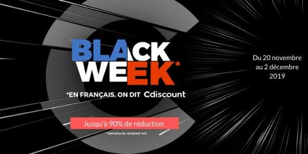 Certaines promotions de la « Black Week Cdiscount » sont en ligne depuis le 20 novembre et jusqu'au Cyber Monday, le lundi 2 décembre. © Cdiscount