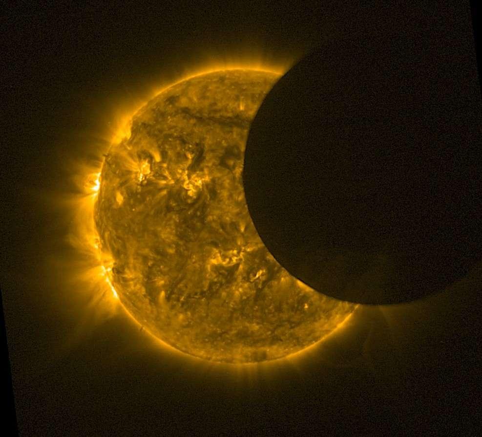 L'éclipse de Soleil du 20 mai 2012 vue par le satellite Proba-2. © Esa