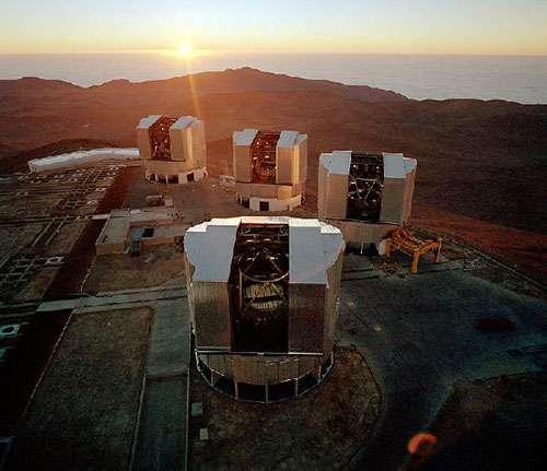 Quatre télescopes de 8 mètres de diamètre : Antu, Kueyen, Melipal et Yepun ont été mis en service, respectivement en 1998, 1999, 2000 et 2001. Paranal, Chili VLT. © Reproduction et utilisation interdites