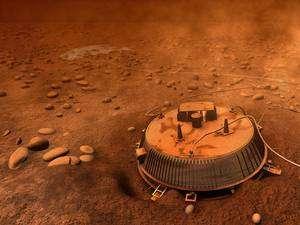 La sonde Huygens sur Titan, représentation ESA.