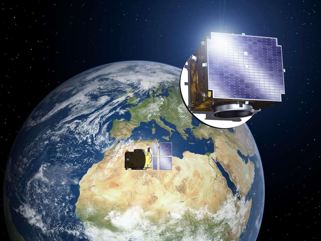 Les satellites Proba, de l'Agence spatiale européenne (ESA), sont des démonstrateurs de nouvelles technologies spatiales destinées à de futures missions à moindre coût. Après Proba-1, Proba-2 et Proba-V déjà en orbite, la mission Proba-3 sera lancée en 2019 pour tester le vol en formation des appareils. © ESA, P. Carril