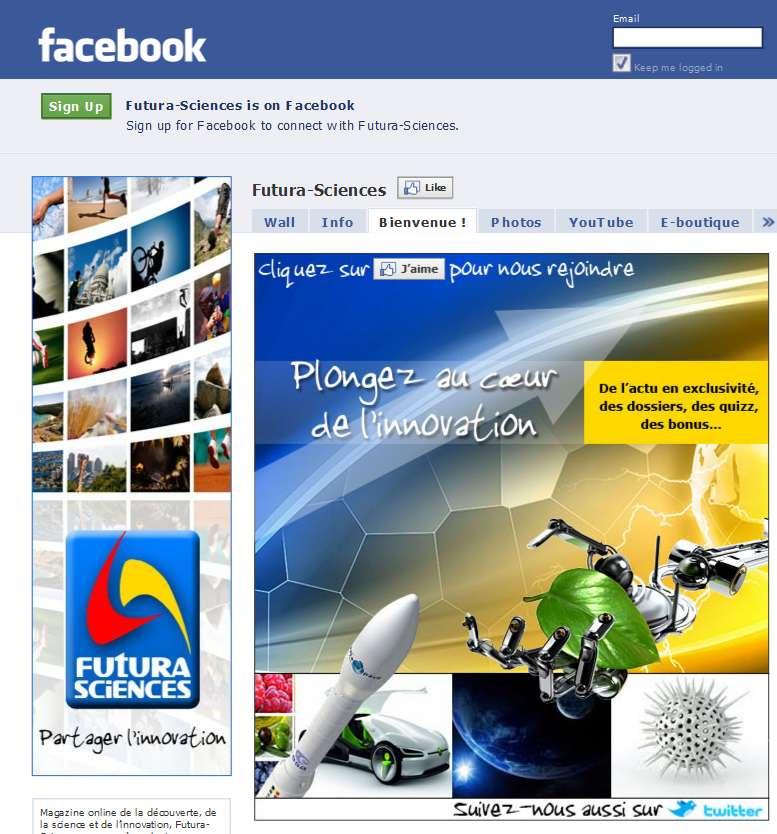 Cliquez et rejoignez l'aventure sur Facebook