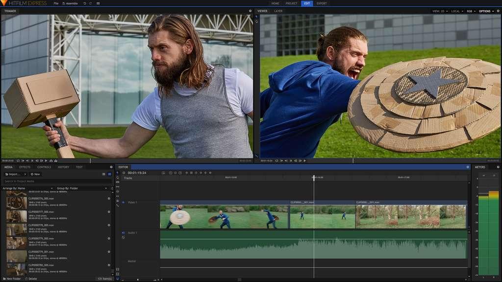 HitFilm Express contient plus de 410 effets spéciaux et préréglages pour éditer vos montages vidéo. © FXhome Limited