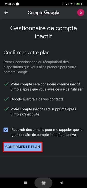 Finissez la procédure d'une pression sur « Confirmer le plan ». © Xiaomi Corporation