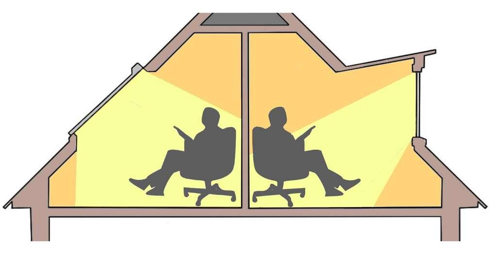 Qu'elle équipe un chien-assis ou un autre type de lucarne, la fenêtre verticale présente l'inconvénient de réduire l'angle de pénétration de la lumière naturelle. © M.B.