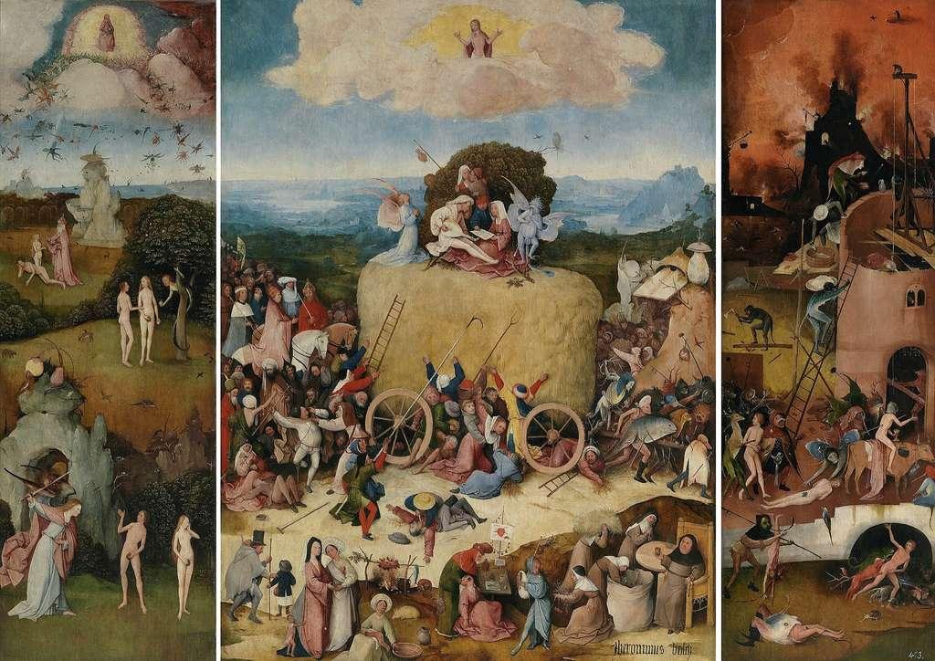 """""""Le chariot de foin"""", de Jérôme Bosch, Musée du Prado, © Wikimedia Commons, DP"""