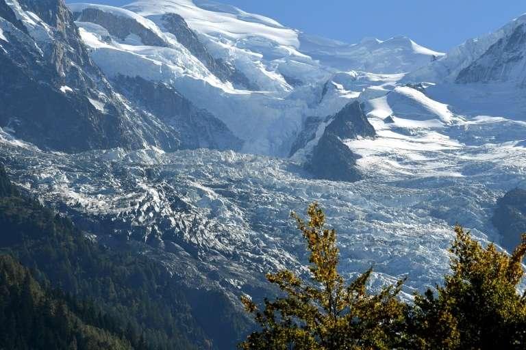Le glacier des Bossons dans les Alpes à Chamonix-Mont Blanc en France le 28 septembre 2018. © Jean-Pierre Clatot - AFP/Archives