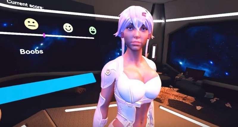 L'une des sexbots du jeu SexBot : Quality Assurance Simulator. © Nutaku Games