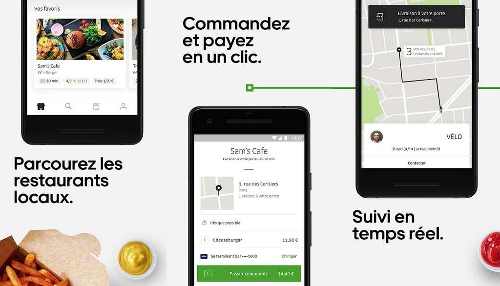 L'appétit d'ogre du géant du transport américain s'est traduit dans l'arrivée du service Uber Eats. Ce dernier a profité de la renommée mondiale d'Uber pour s'accaparer rapidement un bon nombre de clients. © Uber Technologies Inc.