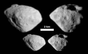 L'astéroïde Steins photographié par la sonde Rosetta en septembre 2008. Crédits : Nasa