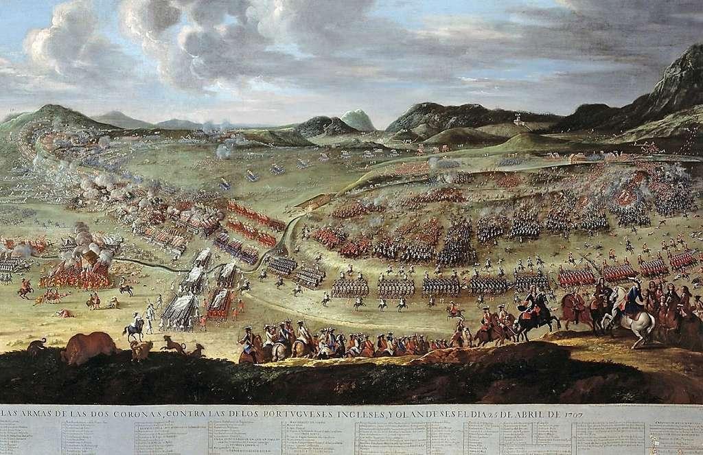 Détail de la bataille d'Almansa, 1709. © Buonaventura Ligli (Ventura Lirios) y Filippo Pallotta, Musée del Prado, Wikimedia Commons, DP