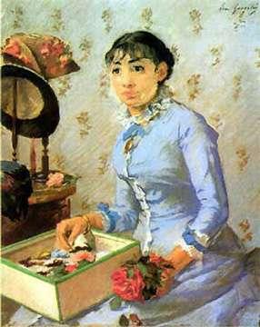 Eva Gonzalès, la modiste, une œuvre réalisée à la gouache et au pastel. © DR