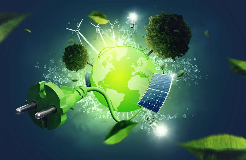 L'énergie verte provient de sources d'énergie durables comme le vent, le soleil, l'eau. © lassedesignen, Adobe Stock