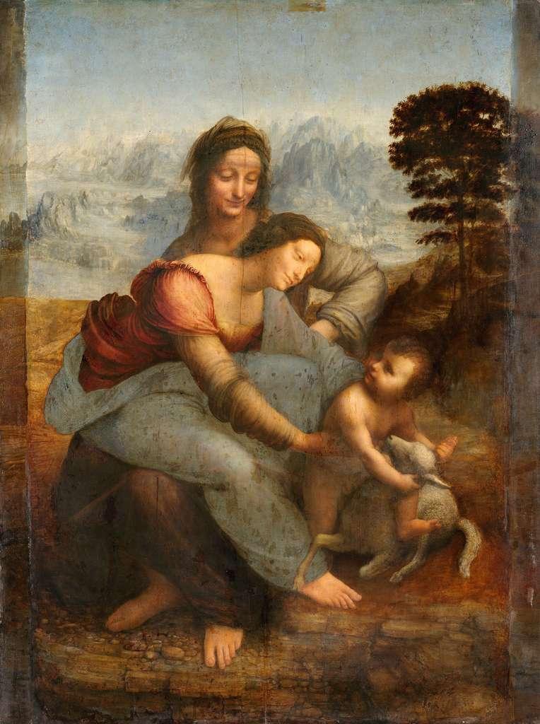La Vierge à l'enfant et Sainte-Anne de Léonard de Vinci, un des chefs-d'œuvre de la Renaissance. © Léonard de Vinci, Wikimedia Commons, DP